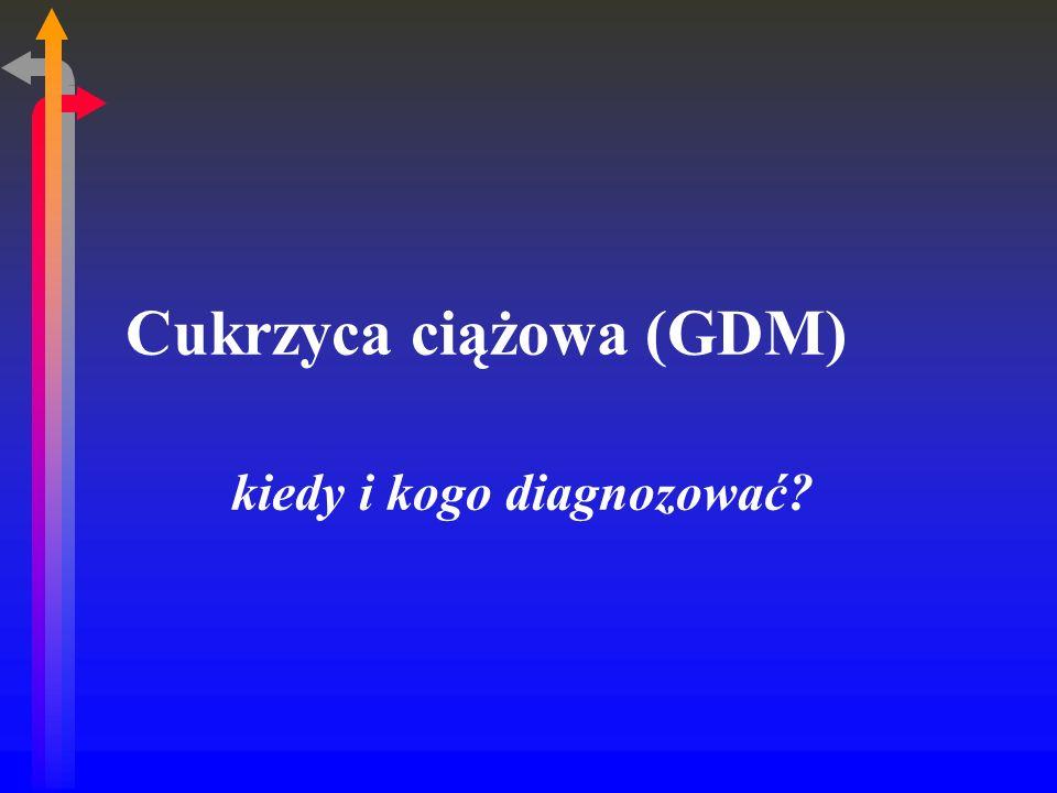 Cukrzyca ciążowa (GDM)
