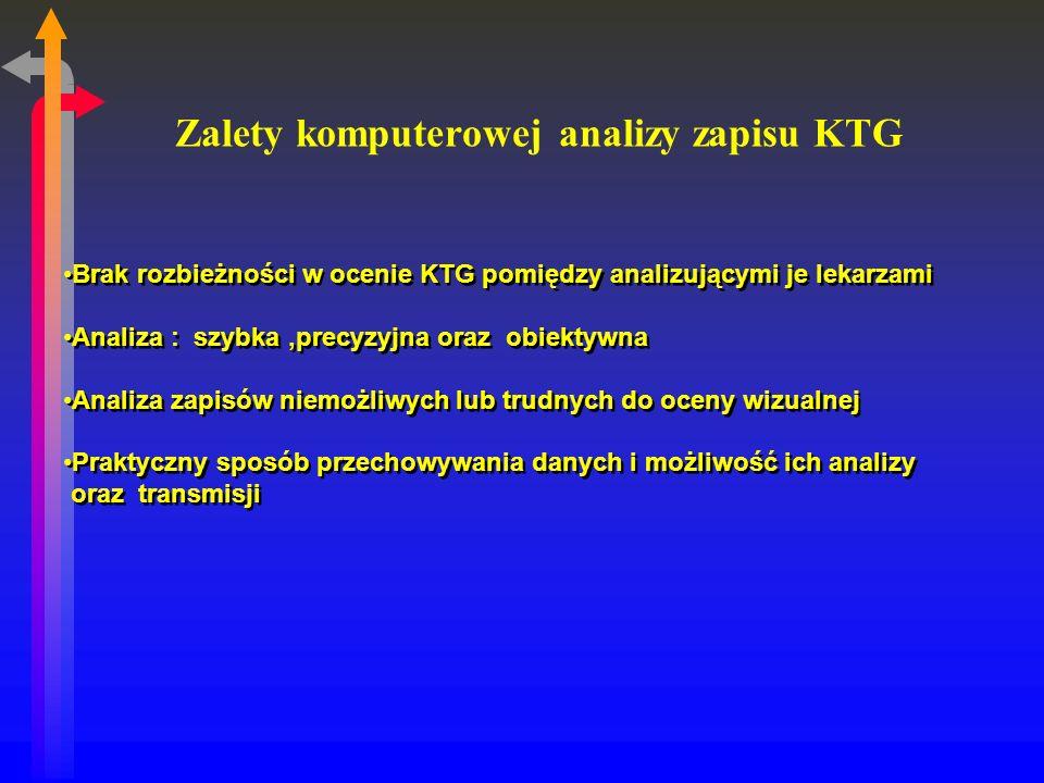Zalety komputerowej analizy zapisu KTG