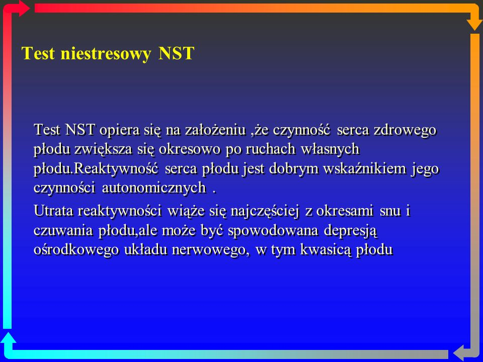 Test niestresowy NST