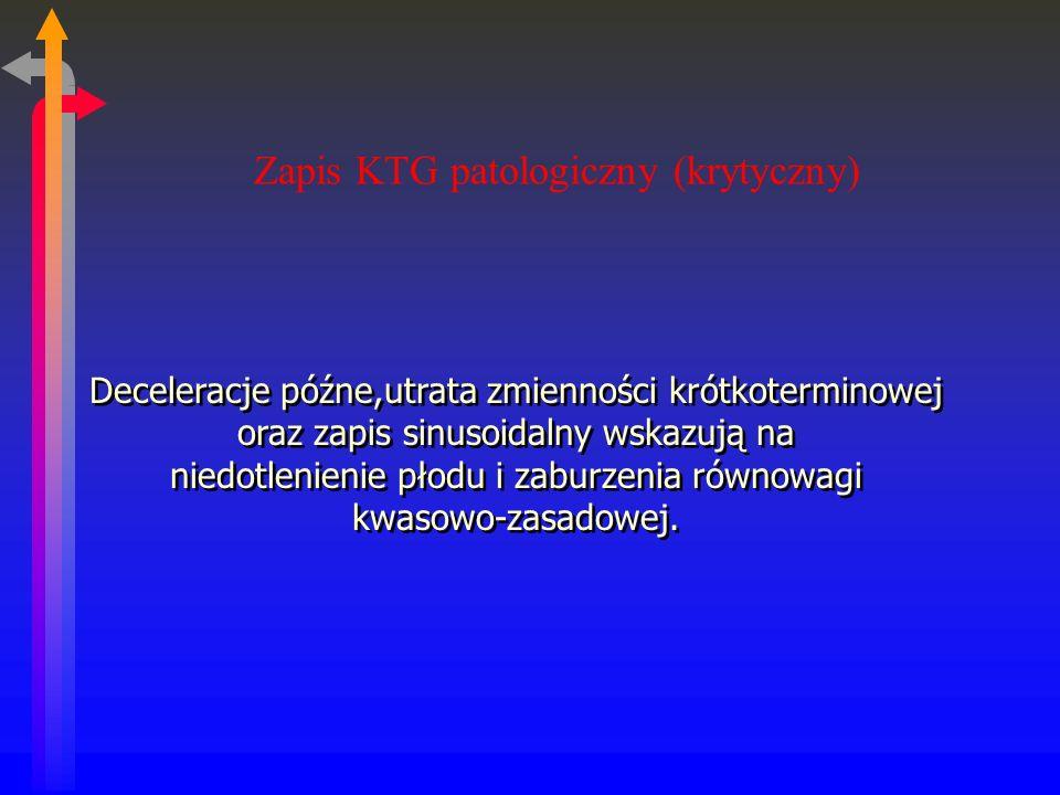 Zapis KTG patologiczny (krytyczny)