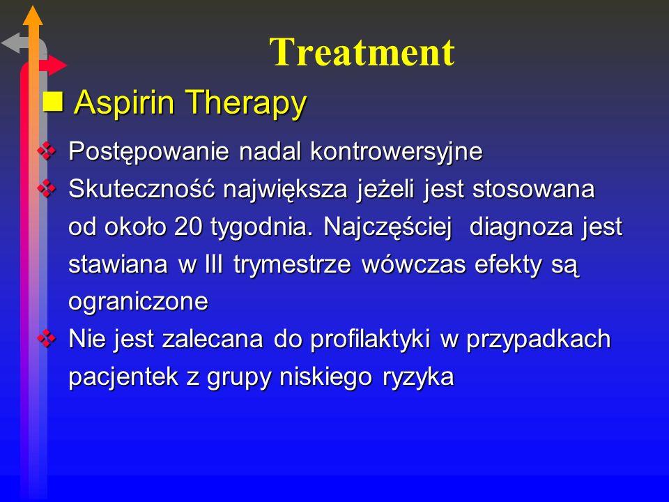 Treatment Aspirin Therapy Postępowanie nadal kontrowersyjne