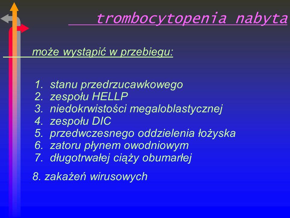 trombocytopenia nabyta