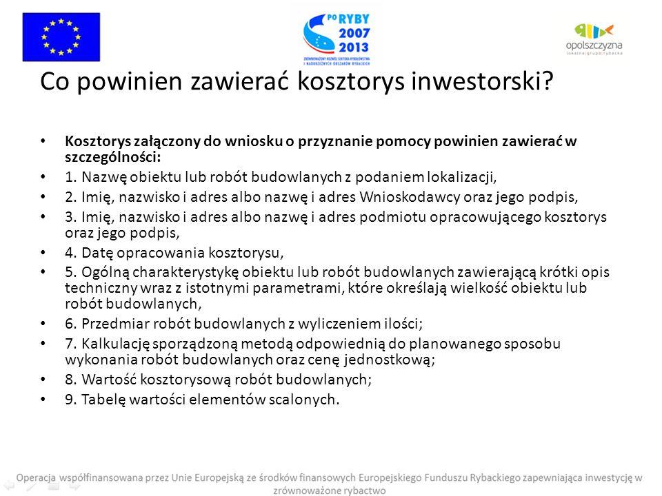 Co powinien zawierać kosztorys inwestorski