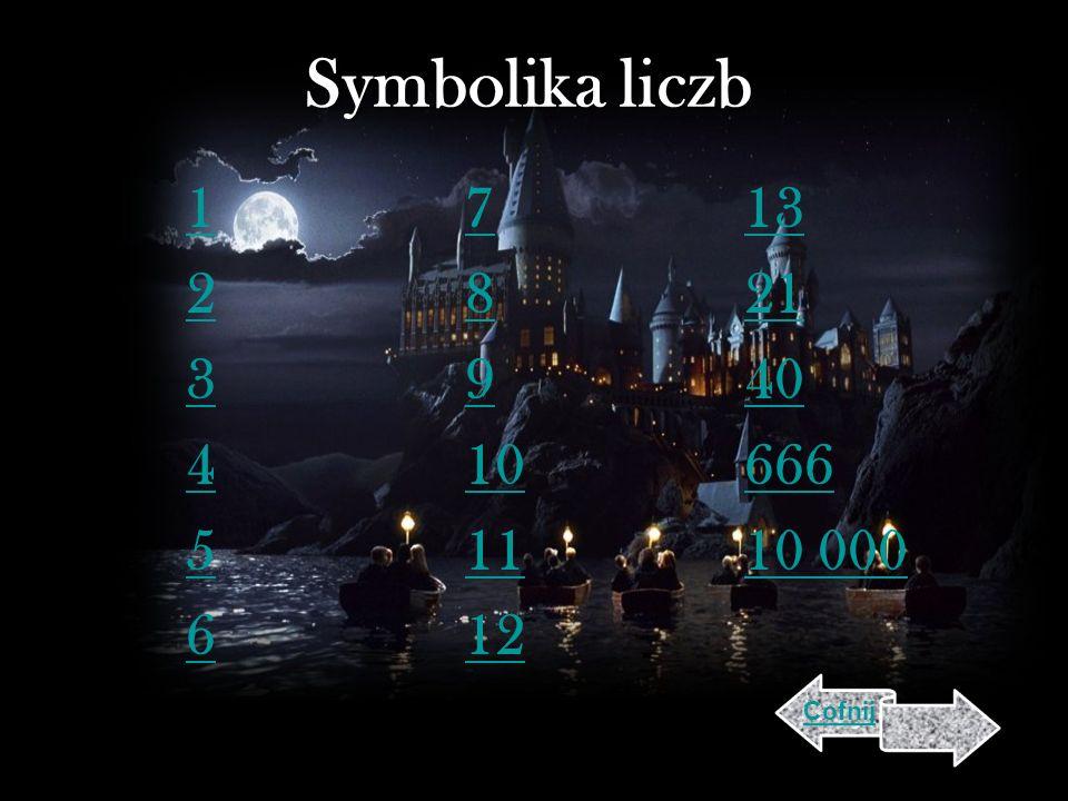Symbolika liczb 1 2 3 4 5 6 7 8 9 10 11 12 13 21 40 666 10 000 Cofnij