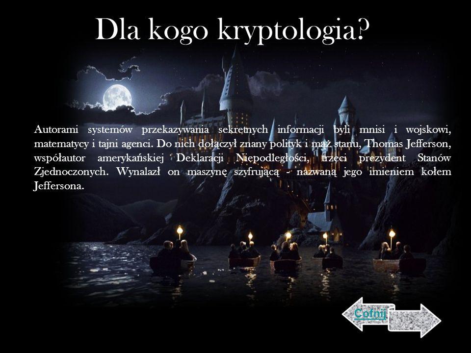 Dla kogo kryptologia