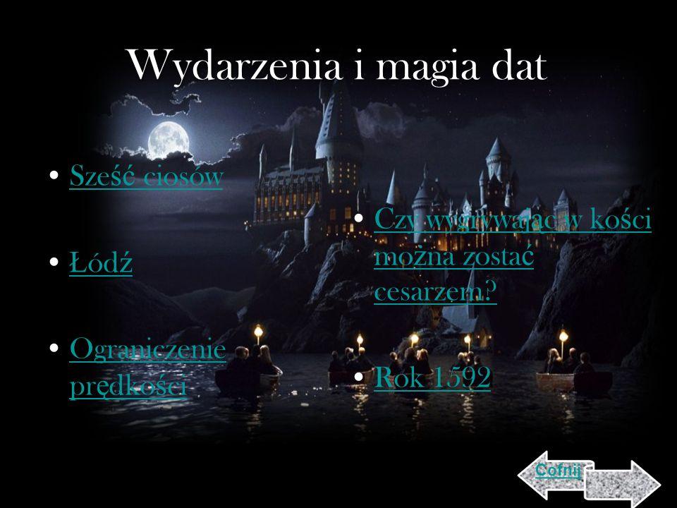 Wydarzenia i magia dat Sześć ciosów