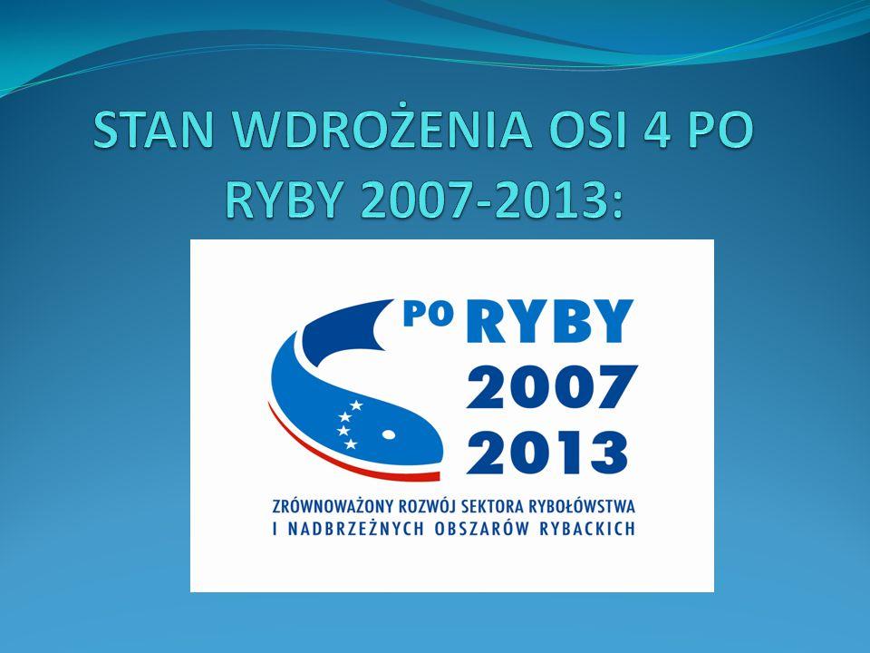STAN WDROŻENIA OSI 4 PO RYBY 2007-2013: