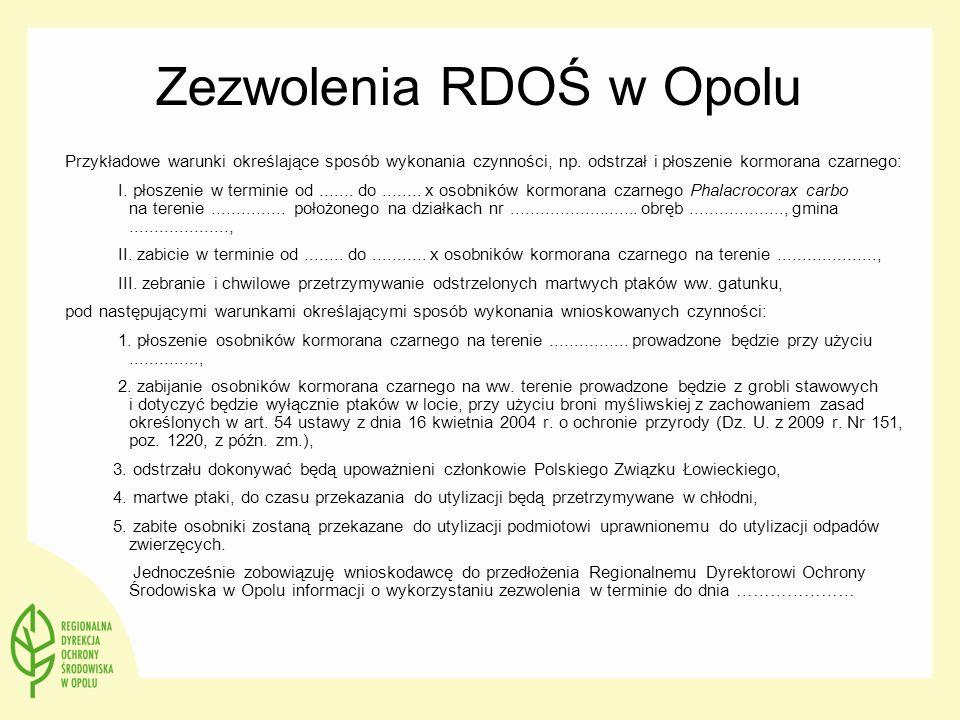 Zezwolenia RDOŚ w Opolu