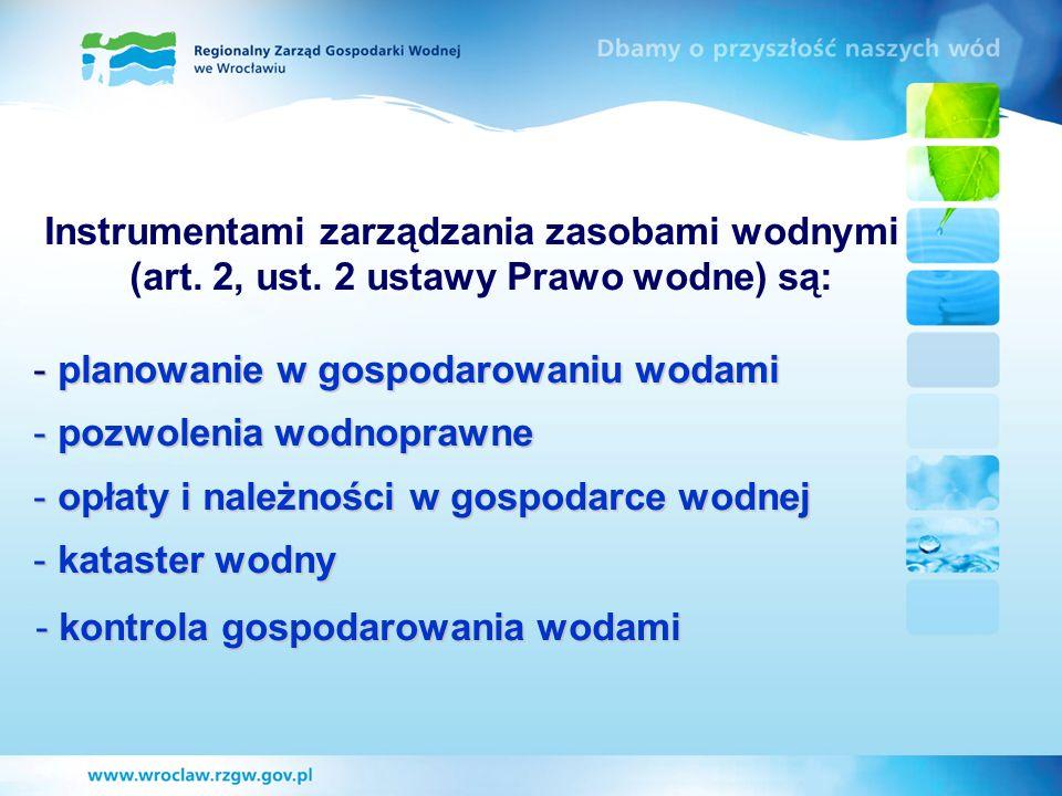 (art. 2, ust. 2 ustawy Prawo wodne) są: