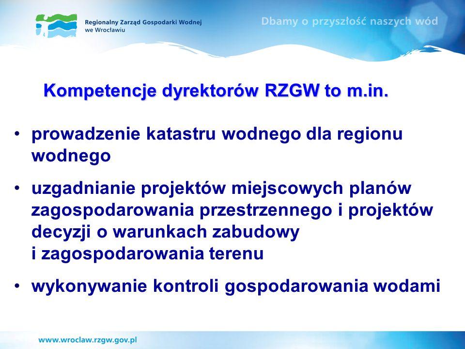 Kompetencje dyrektorów RZGW to m.in.