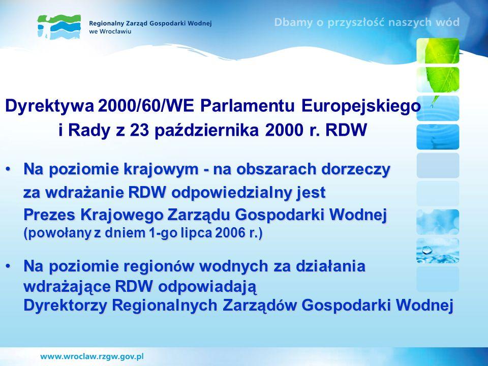 Dyrektywa 2000/60/WE Parlamentu Europejskiego i Rady z 23 października 2000 r. RDW