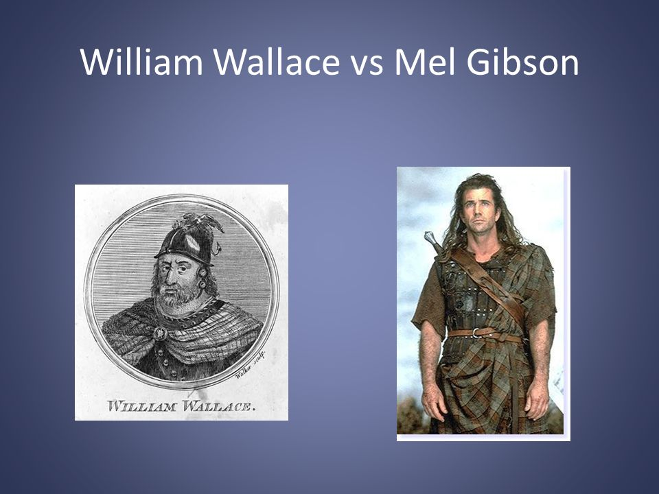 William Wallace vs Mel Gibson