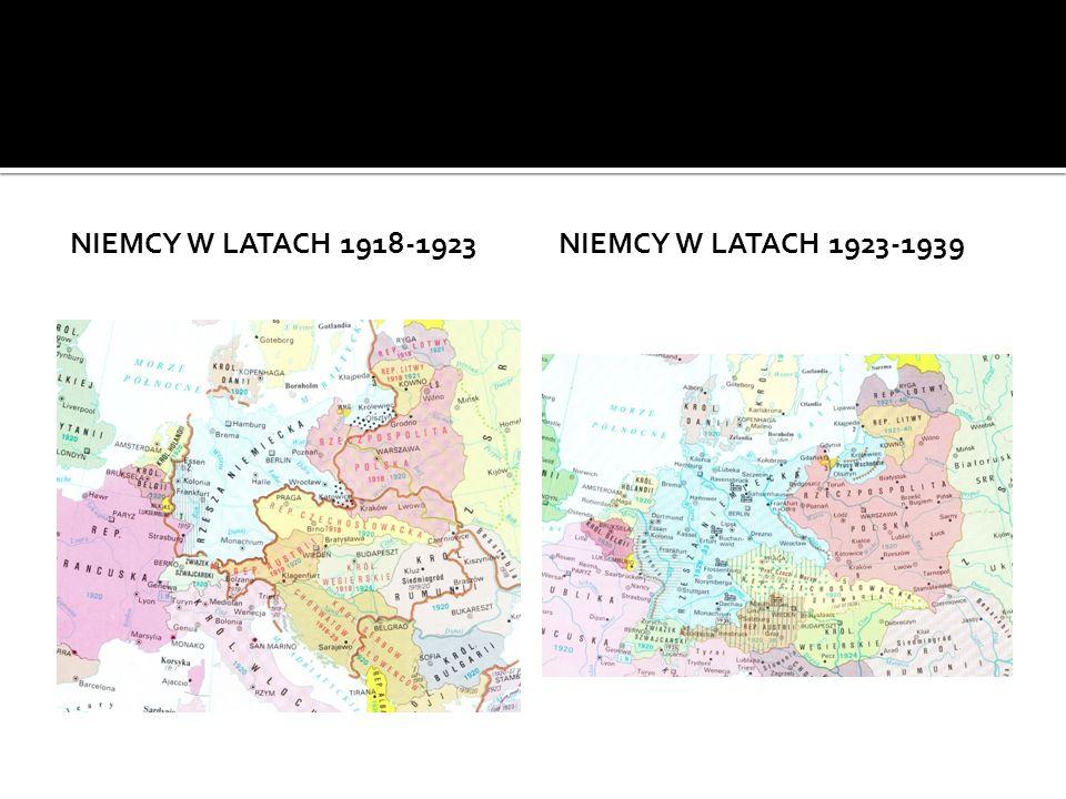 Niemcy w latach 1918-1923 Niemcy w latach 1923-1939