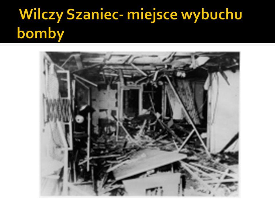 Wilczy Szaniec- miejsce wybuchu bomby