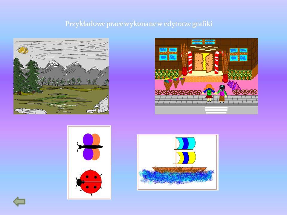 Przykładowe prace wykonane w edytorze grafiki