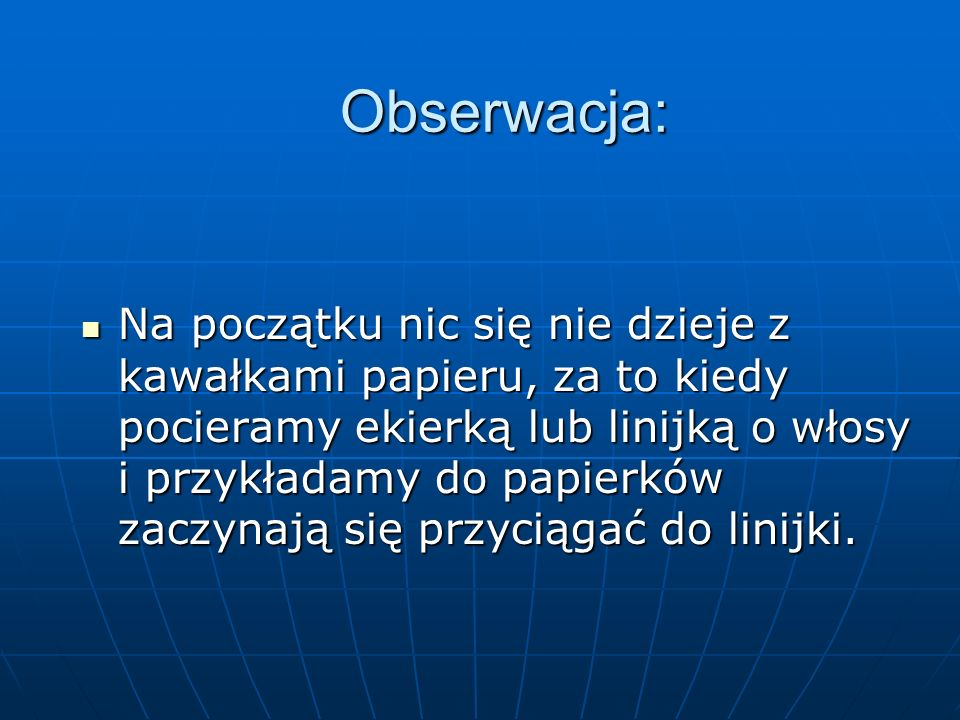 Obserwacja: