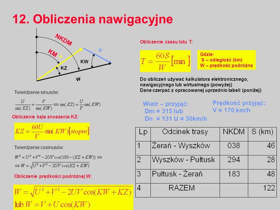 12. Obliczenia nawigacyjne