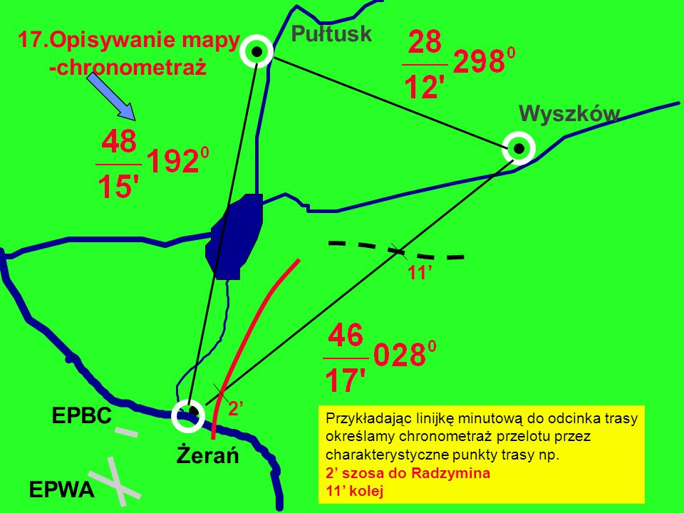 Pułtusk 17.Opisywanie mapy -chronometraż Wyszków EPBC Żerań EPWA 11'