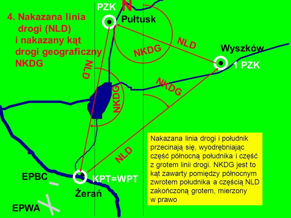 N PZK 4. Nakazana linia Pułtusk drogi (NLD) i nakazany kąt