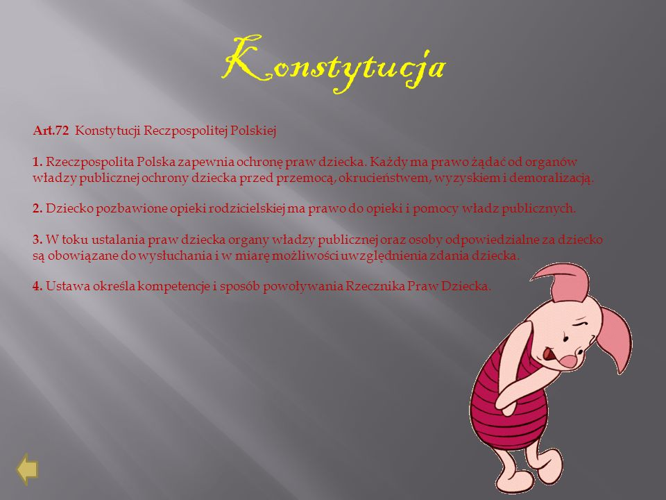 Konstytucja Art.72 Konstytucji Reczpospolitej Polskiej
