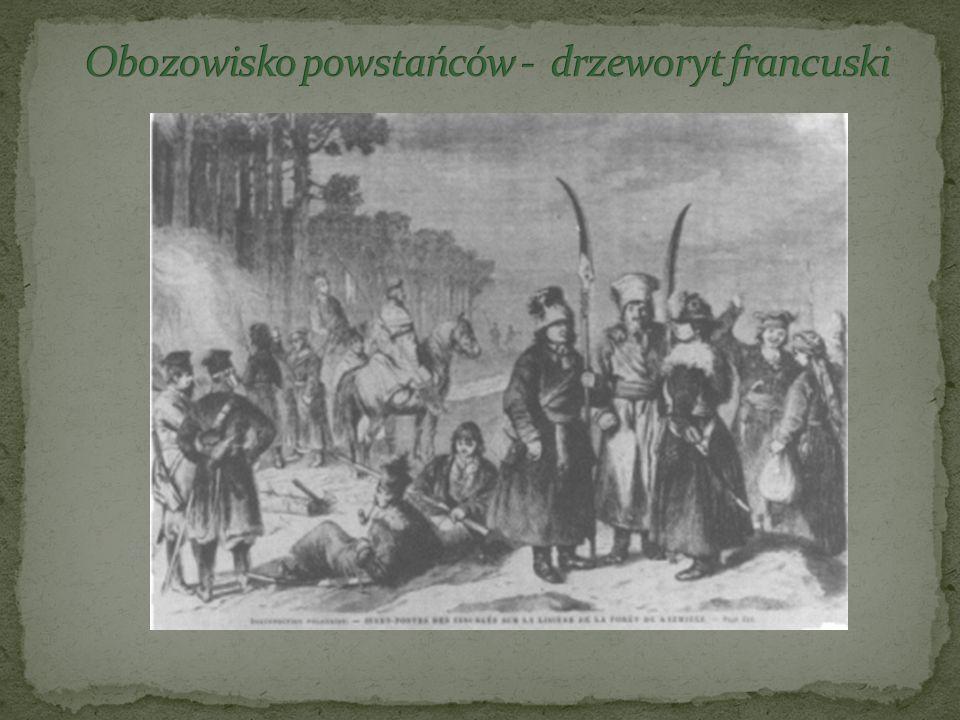 Obozowisko powstańców - drzeworyt francuski