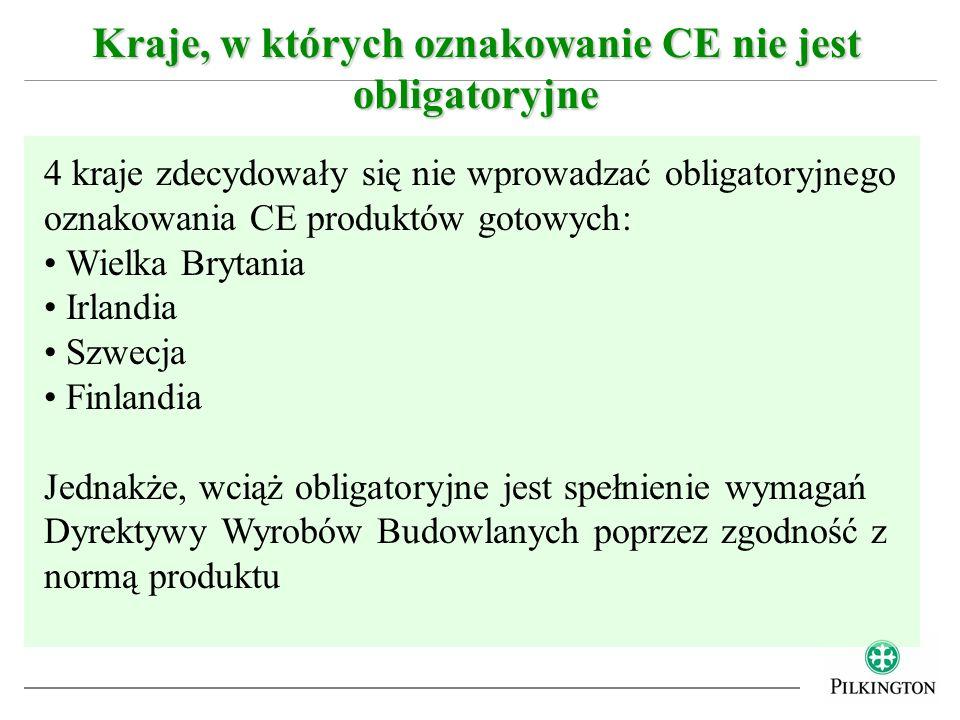 Kraje, w których oznakowanie CE nie jest obligatoryjne