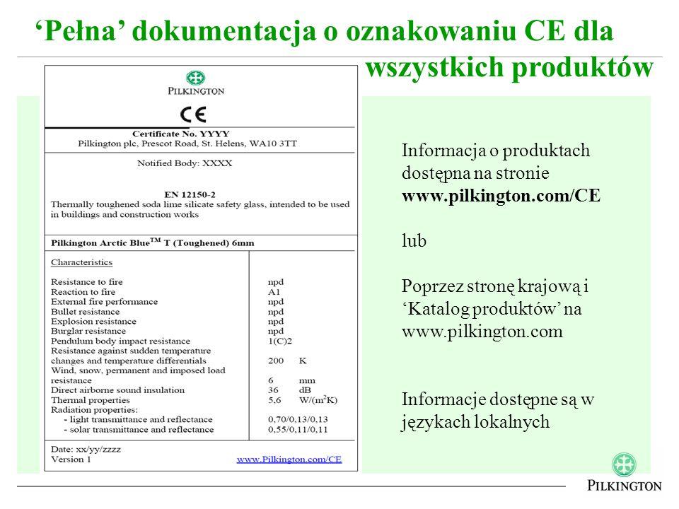 'Pełna' dokumentacja o oznakowaniu CE dla wszystkich produktów