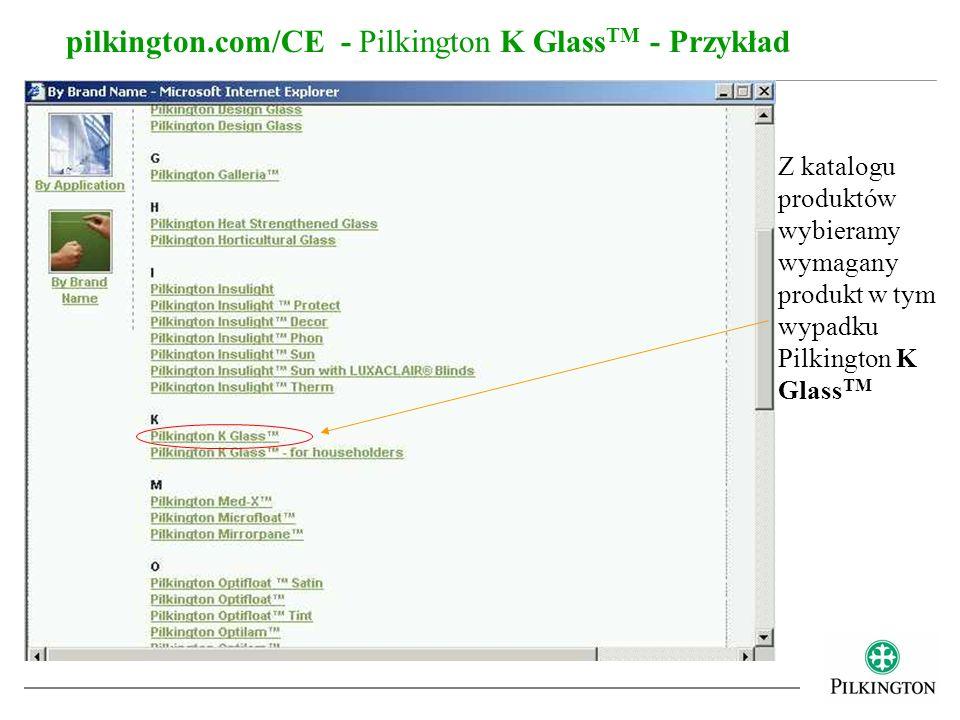 pilkington.com/CE - Pilkington K GlassTM - Przykład