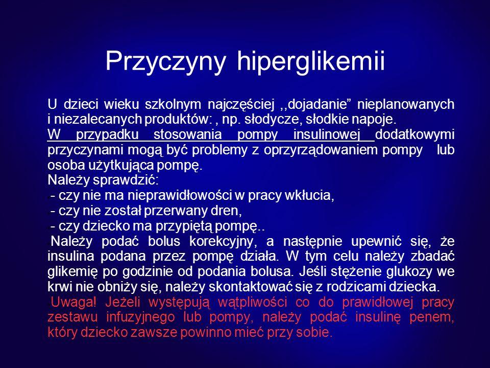 Przyczyny hiperglikemii