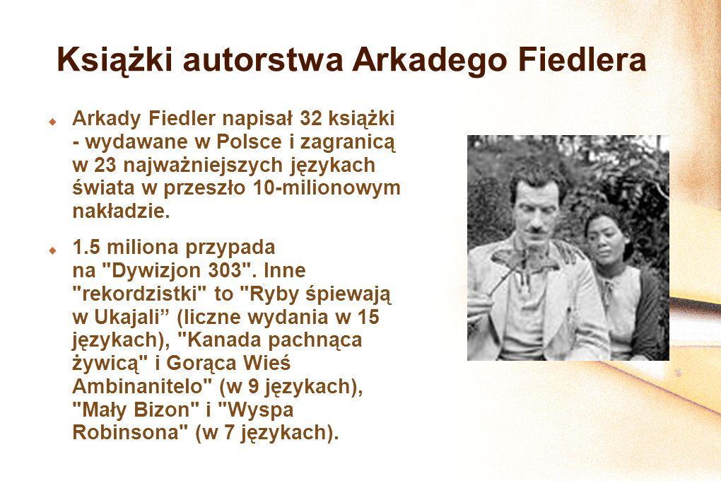 Książki autorstwa Arkadego Fiedlera