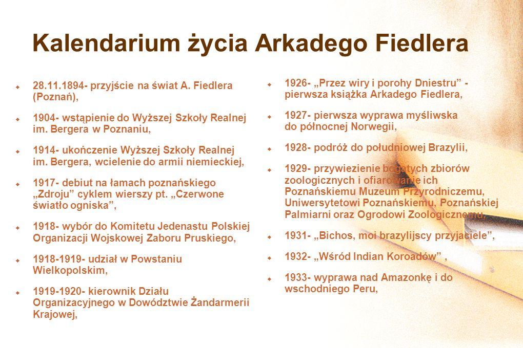 Kalendarium życia Arkadego Fiedlera