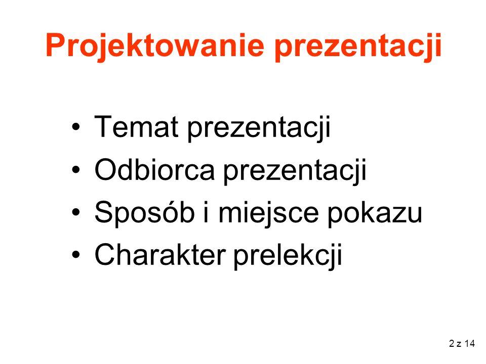 Projektowanie prezentacji