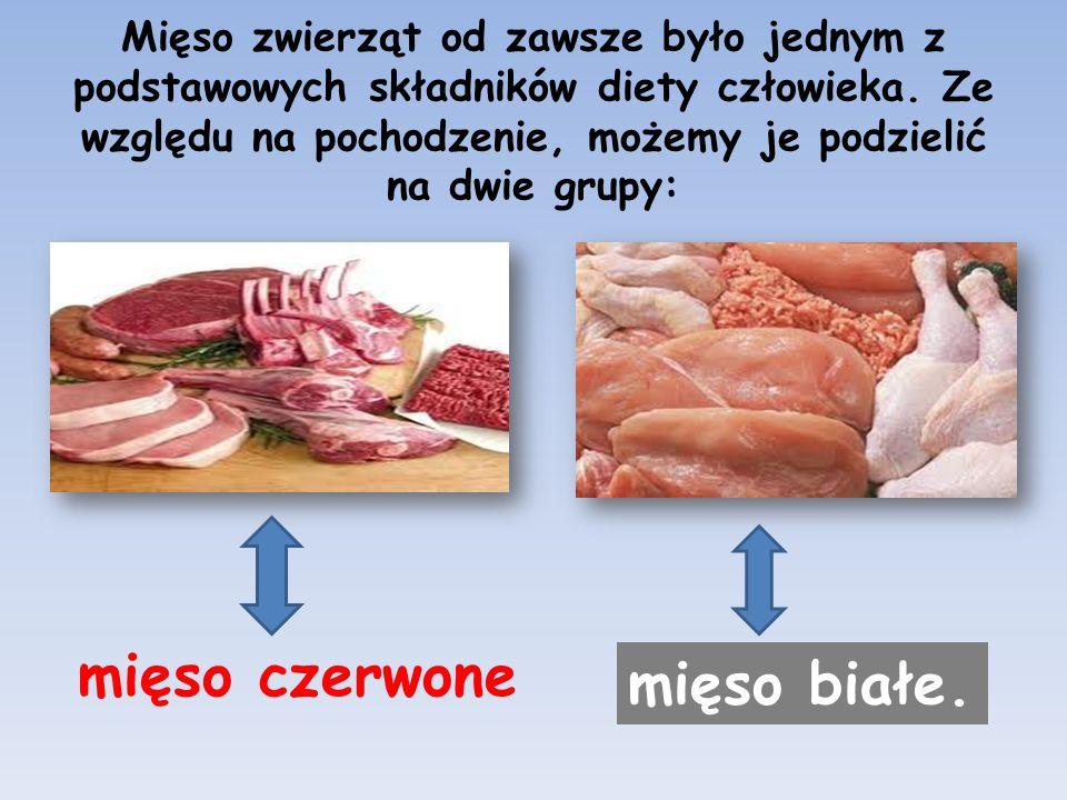 mięso czerwone mięso białe.