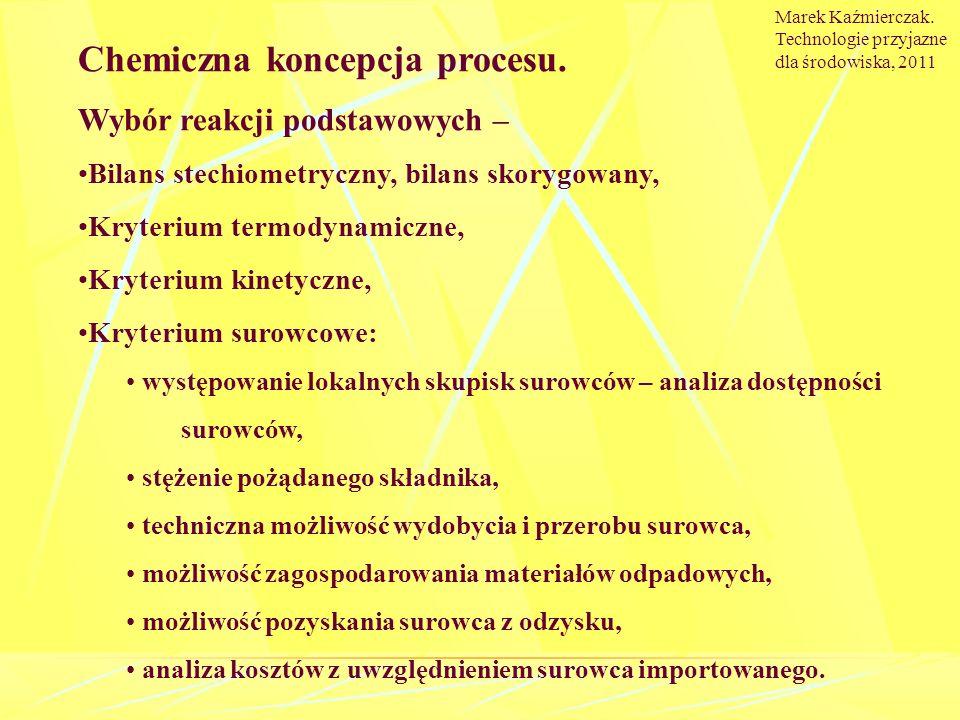 Chemiczna koncepcja procesu.