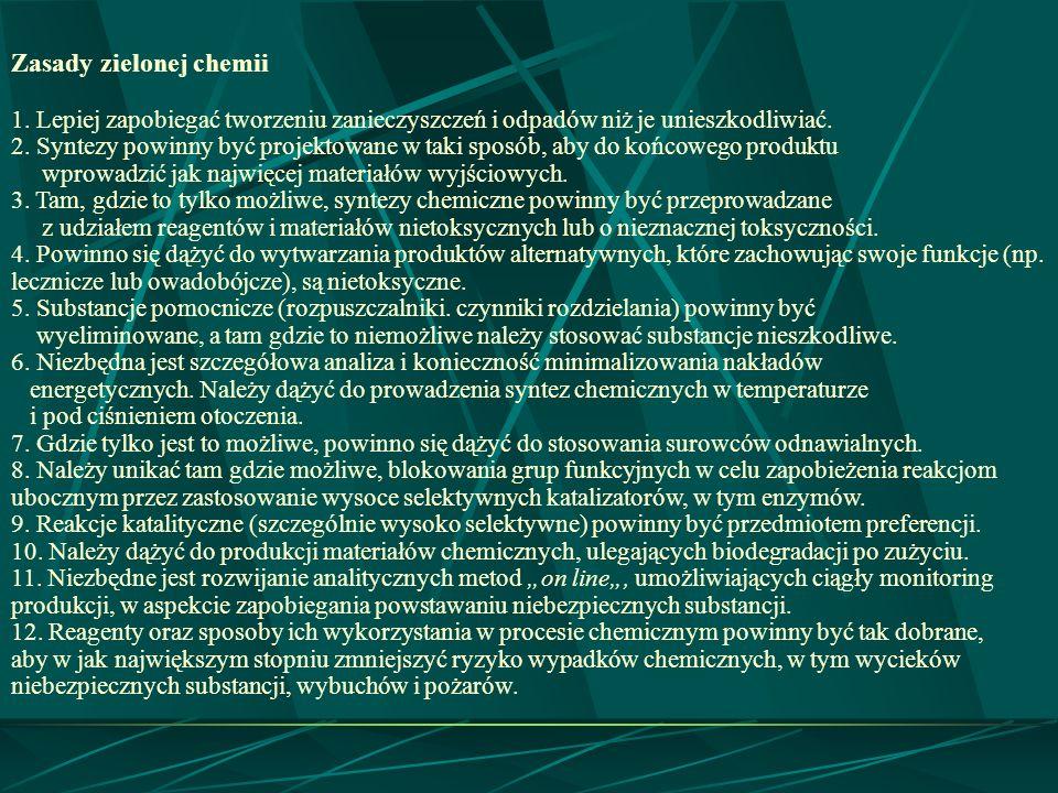 Zasady zielonej chemii