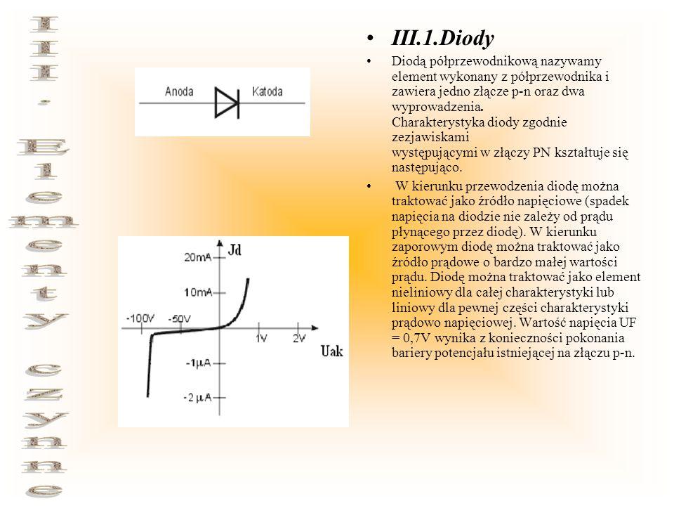 III. Elementy czynne III.1.Diody