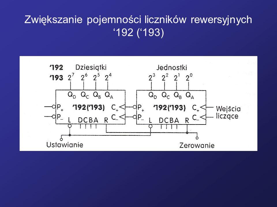 Zwiększanie pojemności liczników rewersyjnych '192 ('193)