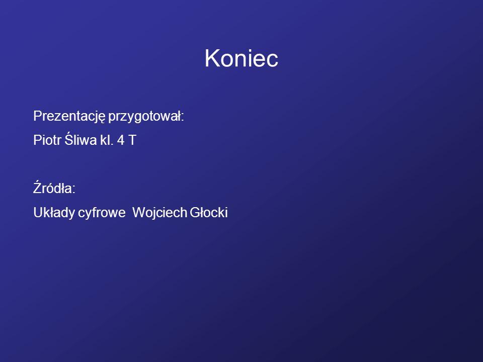 Koniec Prezentację przygotował: Piotr Śliwa kl. 4 T Źródła: