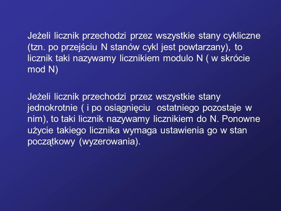 Jeżeli licznik przechodzi przez wszystkie stany cykliczne (tzn