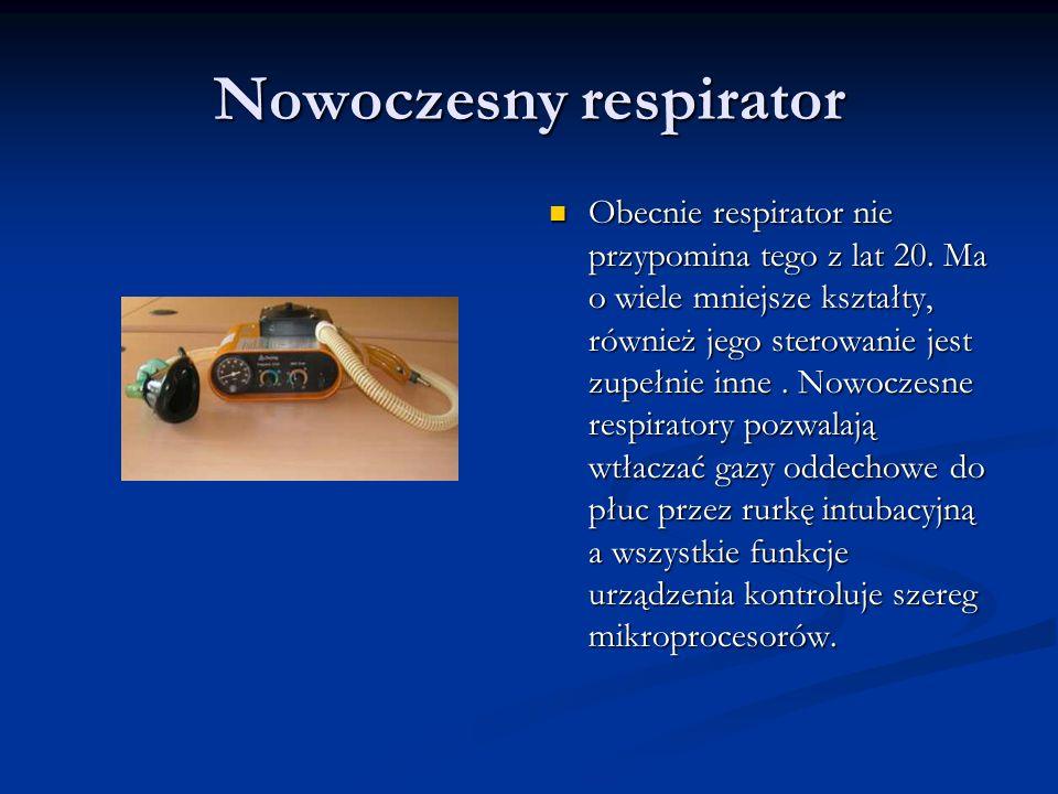 Nowoczesny respirator
