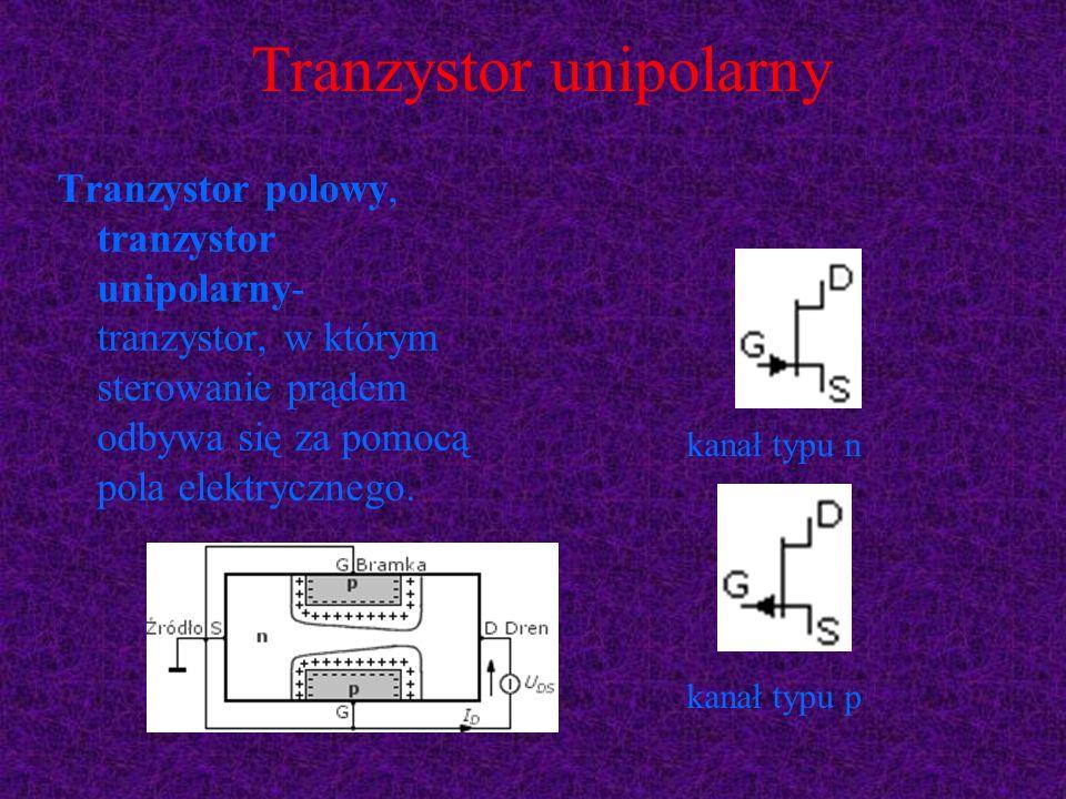 Tranzystor unipolarny