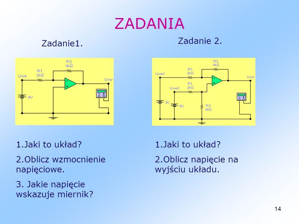 ZADANIA Zadanie 2. Zadanie1. 1.Jaki to układ