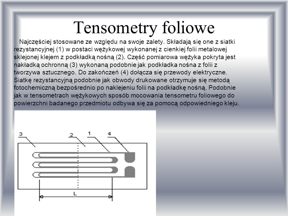 Tensometry foliowe