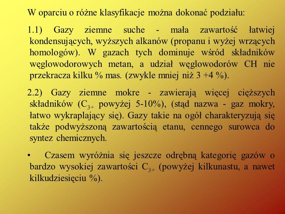 W oparciu o różne klasyfikacje można dokonać podziału: