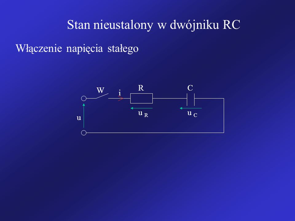 Stan nieustalony w dwójniku RC