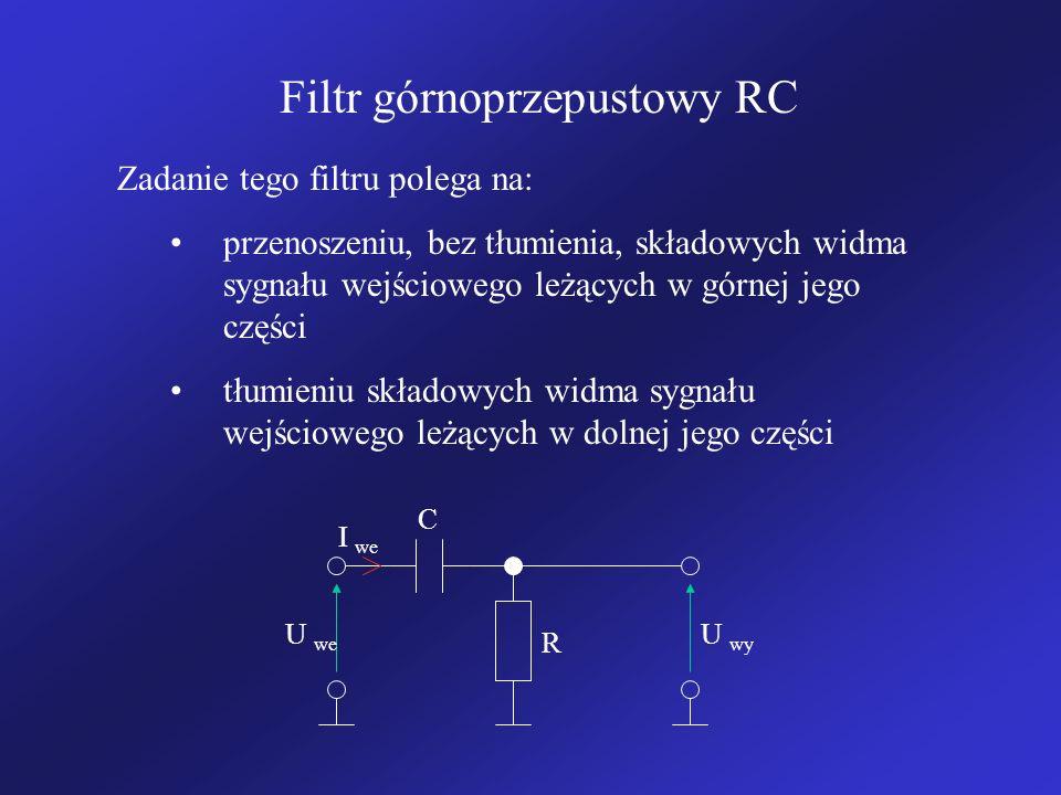 Filtr górnoprzepustowy RC
