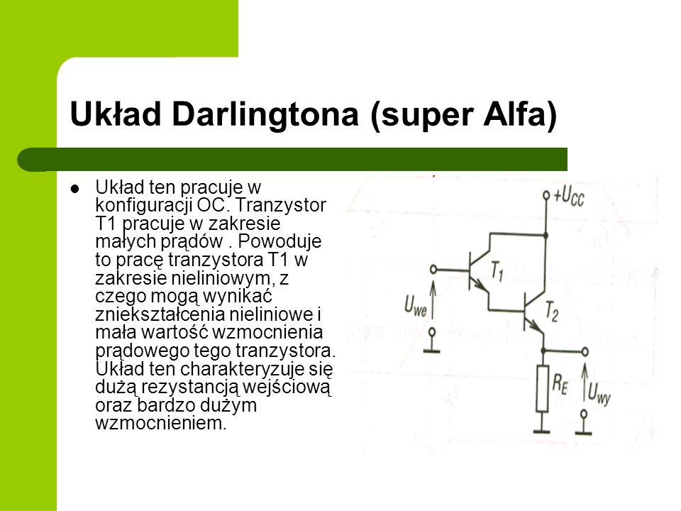 Układ Darlingtona (super Alfa)