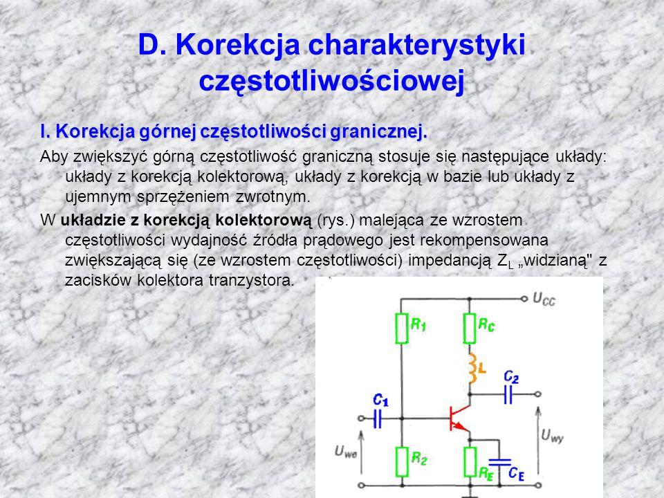 D. Korekcja charakterystyki częstotliwościowej