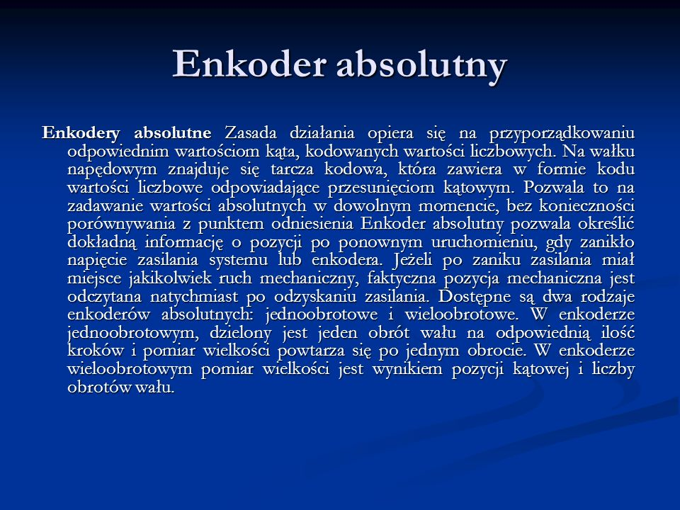 Enkoder absolutny