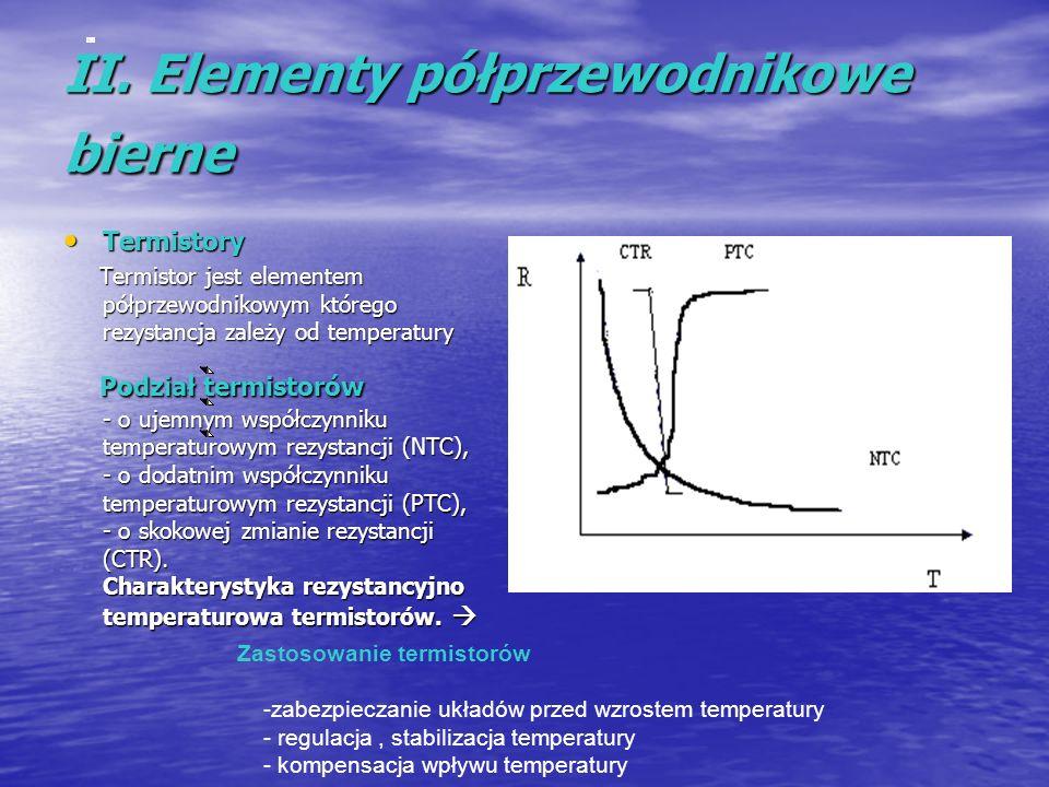 II. Elementy półprzewodnikowe bierne